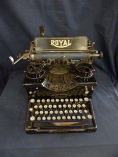 Vintage 1920's ROYAL Model 10 Typewriter W/ Beveled Glass Panels ,1920,American