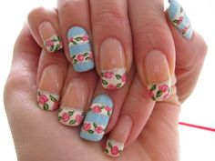 Spring Floral Nail Art Designs 2015