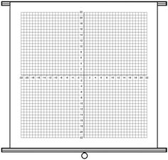 Exceptional Pull Down Dry Erase Chart, 1 Grid Numbered Axis