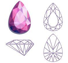 Diamond Vector, Diamond Art, Jewelry Illustration, Watercolor Illustration, Gem Drawing, Crystal Drawing, Ceramic Sculpture Figurative, Jewel Tattoo, Diamond Tattoos