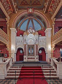 Aron Kodesh (Torah Ark), Restored Tempel Synagogue, Krakow 2011