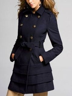 Nothing like adding tiers to a wool military coat - love this look!!! Just got a coat like this!