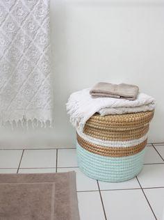 DIY painted laundry basket