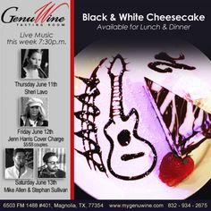 Live Music June 11-13 with Sheri Lavo, Jenn Harris, Mike Allen and Stephen Sullivan