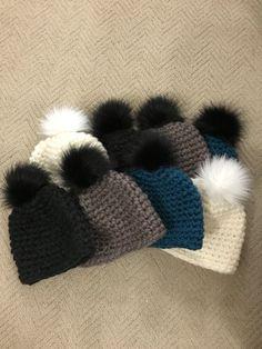 Faux Fur PomPom Beanie from CapsbyColoween (affiliate)