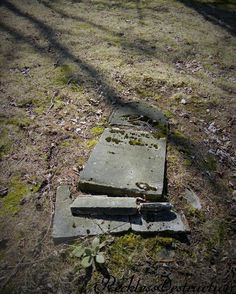 abandoned graveyard, broken headstone #forgottenseries