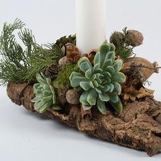 Juledekoration, natur, hvidt lys - Amager Blomster