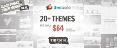 cool ThemeIsle Back Friday Themes Deals - 35% Off , To celebrate Black Friday and Cyber Monday, ThemeIsle Back Friday Themes Deals is giving a 35% discount on all Premium WordPress Themes and Plugins. T...