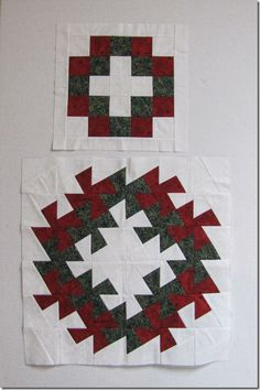 Little twister Christmas. Nice to see the before and after of cutting out the blocks together.