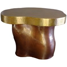 Garrofon Side Table, Copper and Brass, 21st Century | From a unique collection of antique and modern side tables at https://www.1stdibs.com/furniture/tables/side-tables/