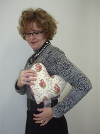 Mastectomy & Breast Cancer Comfort Pillows = My mother used to make these heart pillows for friends who had mastectomies.