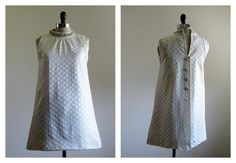 love this 1960s Dress / Vintage 60s MOD Mini Wedding Dress by 4birdsvintage