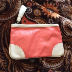 Benefit Cosmetic Bag NWOT  Peach and ivory bag with tassel zipper Bags Cosmetic Bags & Cases