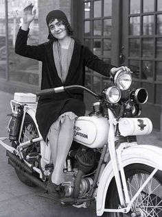 A very sharp appearing c.1930 Harley-Davidson, which appears to be a police special. It is shown in this dealer promotional photo for a West Coast Dealer