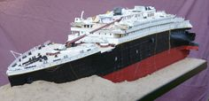 TITANIC FORUM 1912 Titanic Wreck Model 1100 Scale For
