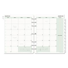 Monthly Classic Refill, 8 1/2 X 11, White/green, 2016