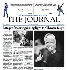 Late professor is guiding light for Theatre Department – Webster Journal Online