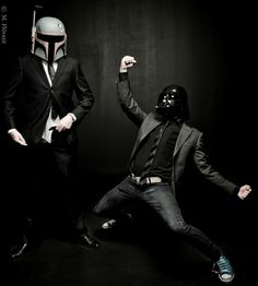 A Sith lord has to cut loose once in awhile...