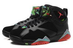 Nike Air Jordan 7 Retro Black Color Men Shoes