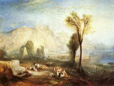 The Bright Stone of Honour (Ehrenbreitstein) and the Tomb of Marceau, from Byron's 'Childe Harold', 1835 William Turner