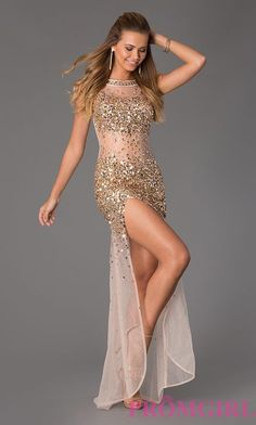 This is a sensational sexy sheer beaded prom dress for the girl who is confident in her style. Description from simplydresses.com. I searched for this on bing.com/images