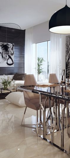 Modern Dining Room. For more ideas: http://www.jetclassgroup.com/en/