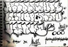 Graffiti Alphabet : Letters A   Z (Tag Graffiti, Throw Up, Hip Hop ...