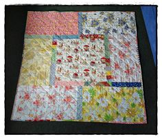 Sunshine x 3: Scrappy Trip Along quilt (back)