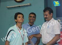 Congratulations Aditya Verma for receiving runner-up award with 21-14, 16-21, 24-22 in Boys Singles U15 YoGems Badminton Championship series,Noida