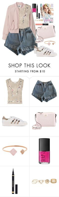 """Untitled #1575"" by anarita11 ❤ liked on Polyvore featuring RED Valentino, American Apparel, adidas Originals, Kate Spade, Michael Kors, NARS Cosmetics and Yves Saint Laurent"