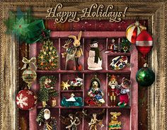 This is a custom order for a digital Christmas card. Christmas 2017, Christmas Cards, Christmas Ornaments, New Work, Behance, Holiday Decor, Gallery, Check, Happy