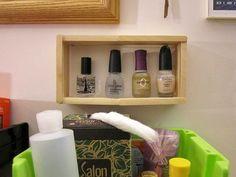 #30DoC — Day fifteen. DIY popsicle stick shelf, small version.