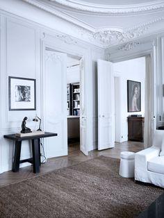 VINTAGE & CHIC: decoración vintage para tu casa [] vintage home decor: Paris. Molduras, blanco y dorado · Paris. Moldings, white and gold