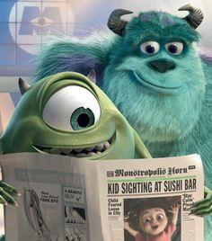 monsters inc. by far my favorite pixar movie Disney Magic, Disney Pixar, Walt Disney, Disney Amor, Disney Monsters, Cute Disney, Disney And Dreamworks, Monsters Inc Movie, Monsters Ink