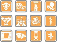 Vector Art: Vector Icons: Theatre, Circus