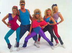 1980s aerobics group