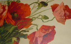 Bei papaveri rossi a/s Catherine Klein Cartolina antica