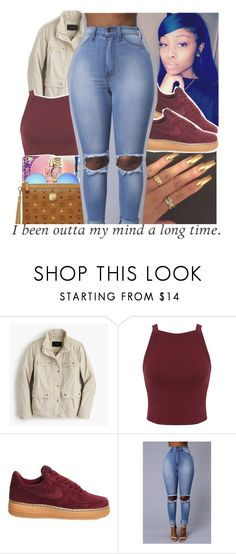 """""""🎀burgundy/maroon contest🎀"""" by geazybxtch24 ❤ liked on Polyvore featuring J.Crew, Miss Selfridge and NIKE"""