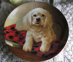 Jjantiq                         Etsy shop Vintage Plate The Cocker Spaniel Shirt Tail By Lynn Kaatz, Field Puppies, Limited Edition, Collectible Porcelain Knowles China Plate, 1988