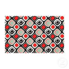 Unique, trendy and cool canvas. With contemporary black, bright red, and white 50s, 60s, or 70s psychedelic and modern deco squares pattern. This vintage retro design was created for the hip decor trendsetter, the modernism lover, nouveau digital art or graphic mod motif designer. Cute mom's or dad's birthday present, Father's or Mother's day, or fun Christmas gift. Original wall art for your master bedroom, man cave, living or family room, cabin, beach house, cottage, vacation home, or…
