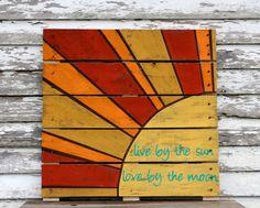 Hand painted repurposed pallet. $60.00, via Etsy.