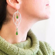 The newest collection - circle drop earrings necklaces and handmade glass jewelry Click to read or pin for later.