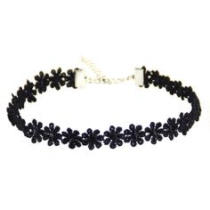 Black Daisy Choker   Skinny Bitch Apparel, Clothing for Urban... ($9.99) ❤ liked on Polyvore featuring jewelry, necklaces, accessories, black, daisy necklace, choker jewelry, choker necklace, daisy choker necklace and daisy jewelry