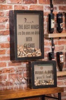 Wood And Glass Wine Cork Holder