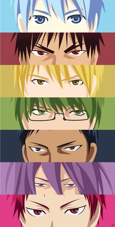 Lol, I think I did this last year. ------- Made using Adobe Illustrator Kuroko no Basuke by: (C) Tadatoshi Fujimaki / Shueisha, Kuroko's Bas. {Kuroko no Basket} Eyes Anime Echii, Haikyuu Anime, Anime Eyes, Kawaii Anime, Anime Art, Kurokos Basketball, Kuroko No Basket Characters, Slam Dunk Anime, Basket Drawing