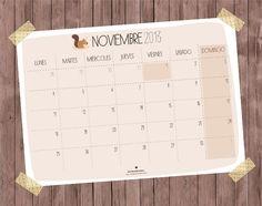 November calendar - Calendario Noviembre