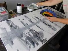 How to paint abstract acrylic painting easy - YouTube