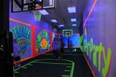glow blacklight basketball sports