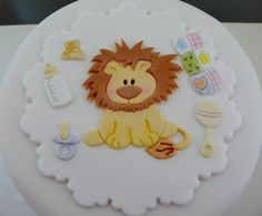 baby lion for a baby shower cake