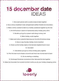 Wedding Tip: 15 Winter Date Ideas #datenight